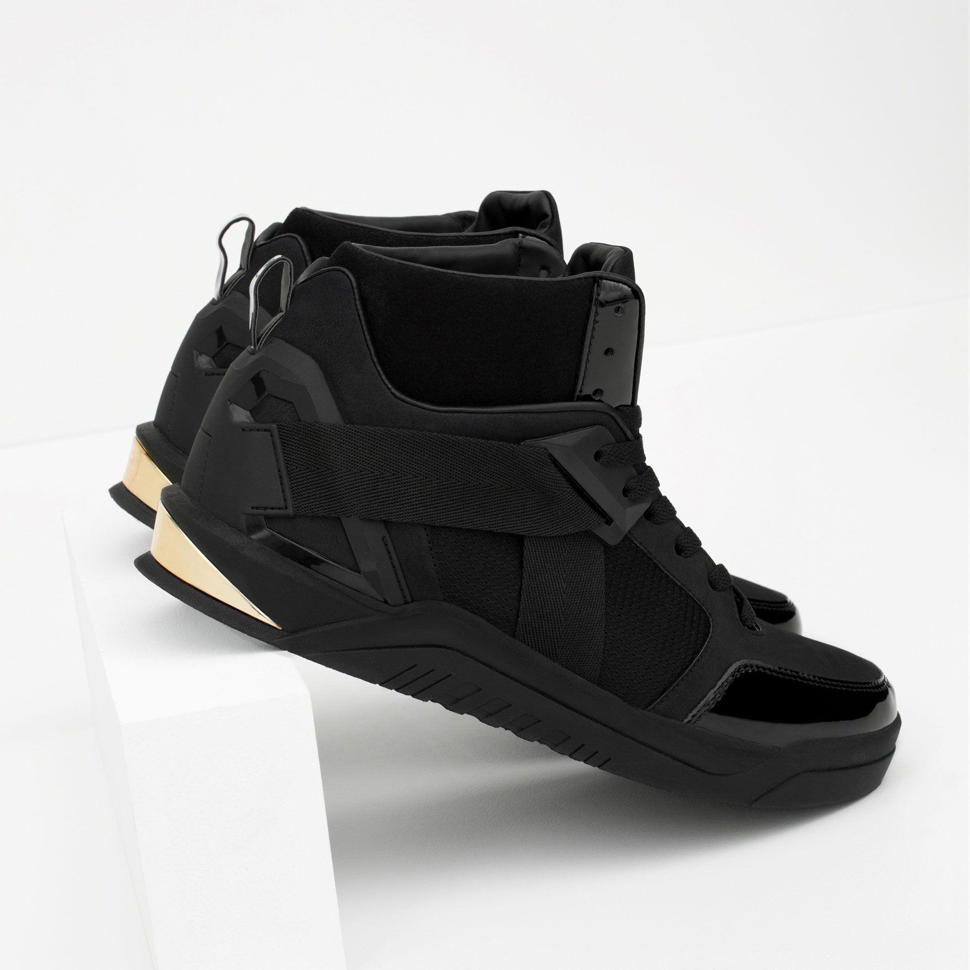 11aa65af54bc03 Métallisé Homme Détail Tout Voir Baskets Montantes Chaussures nPkwOX80