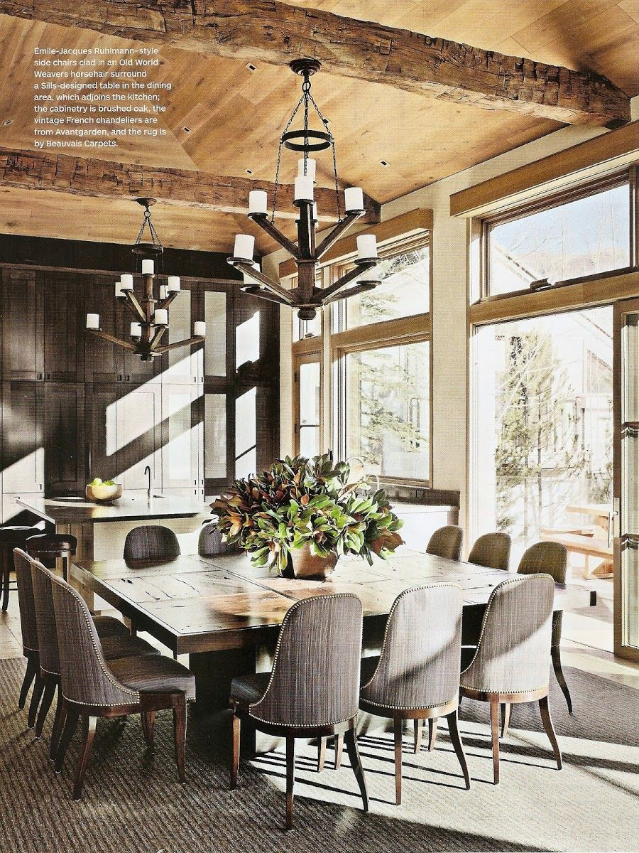 Rustic Chic Dining Room Via AD