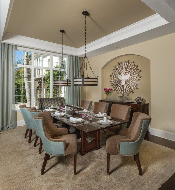 Casual Dining Rooms Decorating Ideas For A Soothing Interior: 15-Chic-Transitional-Dining-Room-Interior-Designs-Full-Of