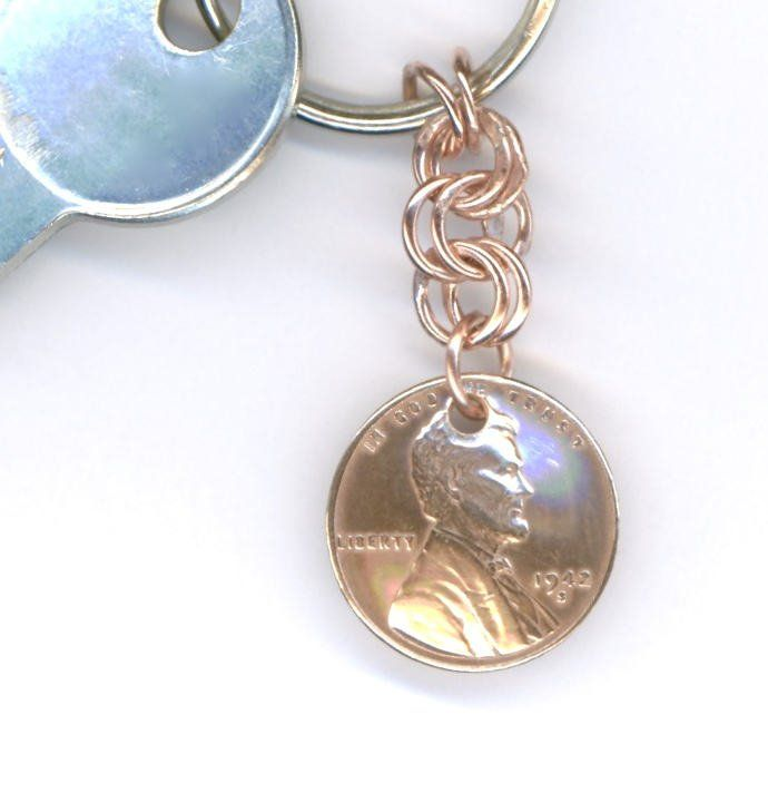 1944 Penny Keychain 75th Birthday Gift Coin By WvWorksJewelry On Etsy
