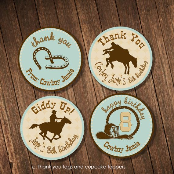 Birthday Coasters: Thank You from Cowboy Friend