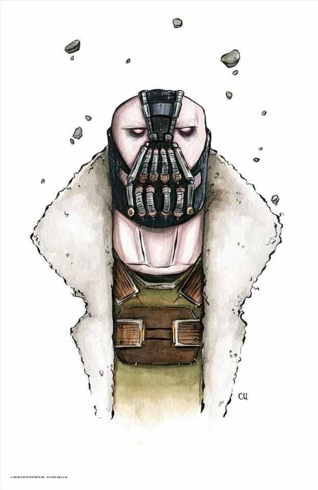 Bane by Christopher Uminga. This piece may be found at: www.metropoliscomicart.com