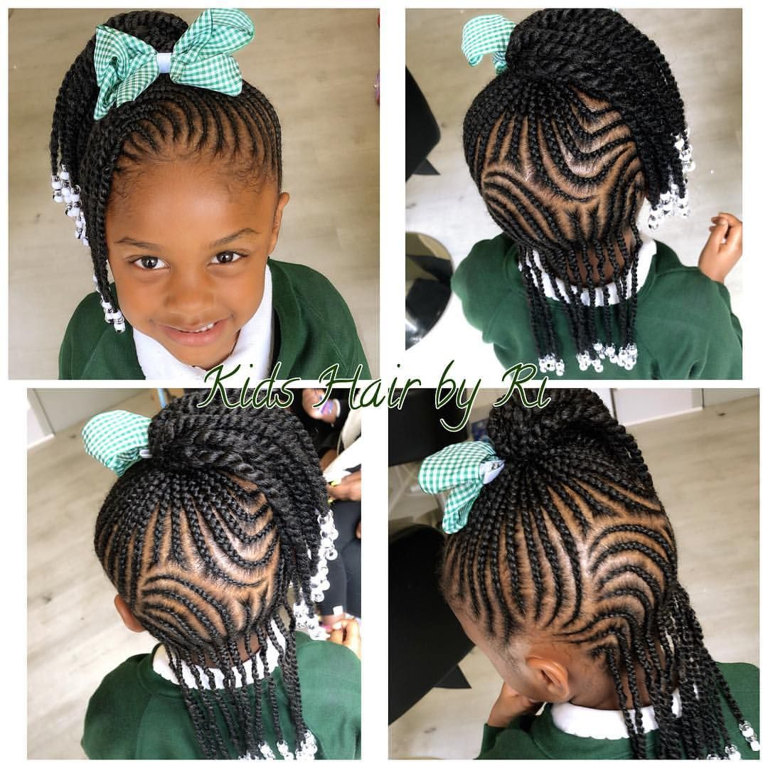 Birthday Hairstyle For A Cutie Kidshairbyri Kidshairstyles Cornrows Northlondon Kidssa Birthday Hairstyles Black Kids Hairstyles Kids Hairstyles Girls