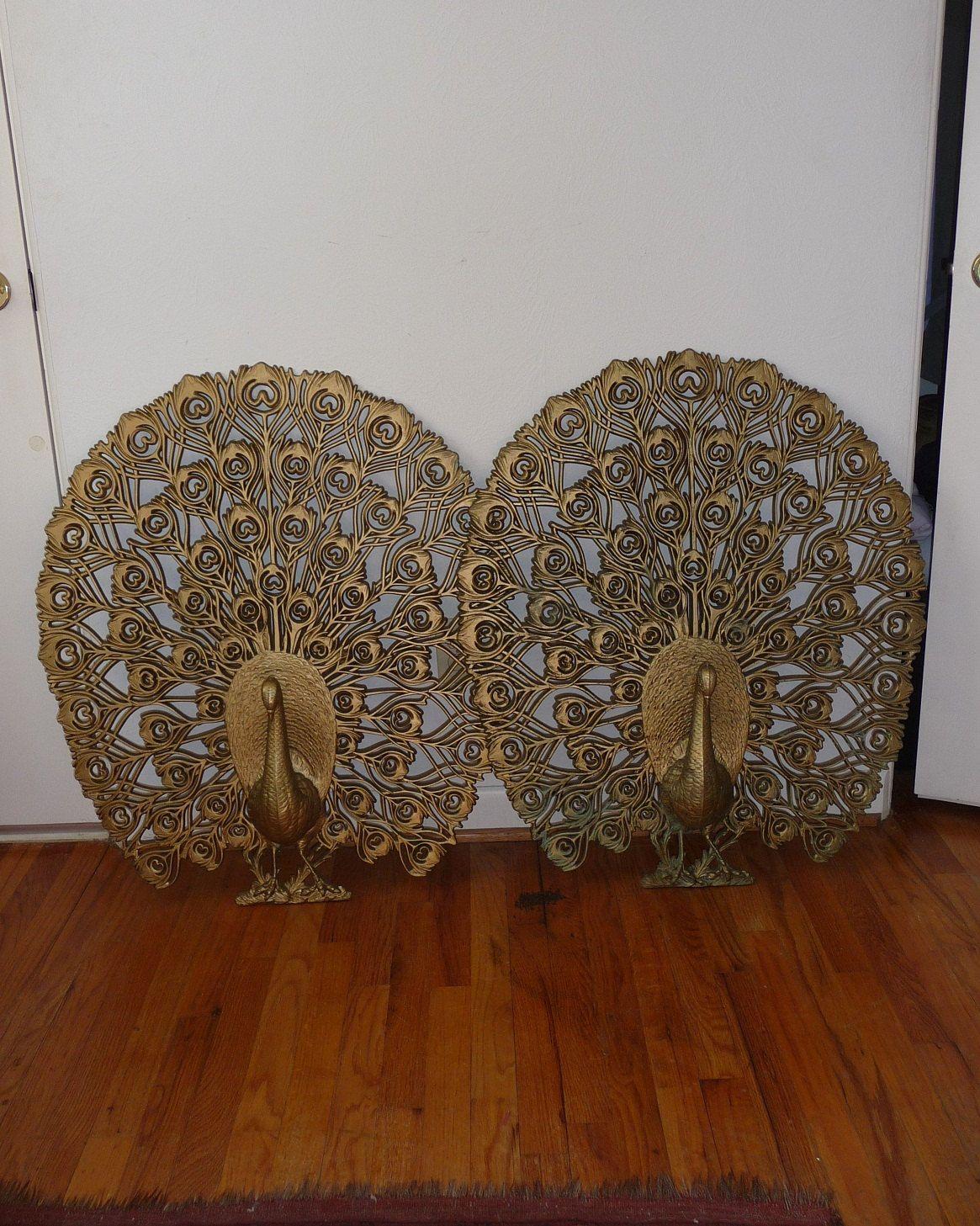 S pair of peacock wall art via etsy peacock home