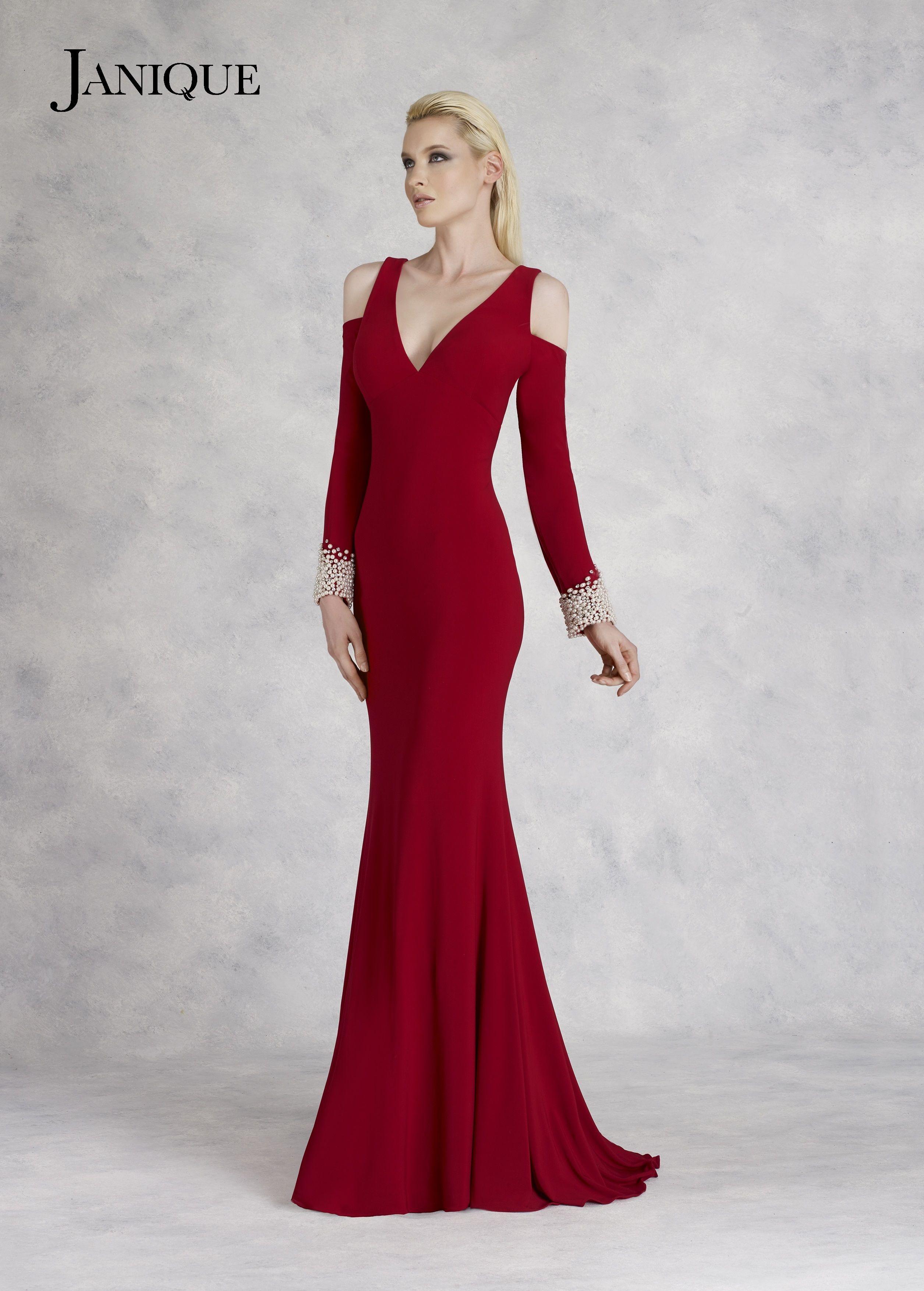 Janique k dress collection coldshoulder long sleeves