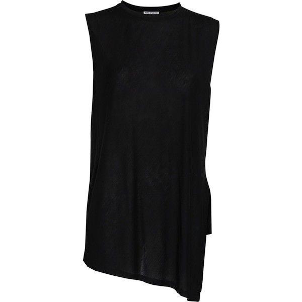 Acne Chance sleeveless top ($61) via Polyvore