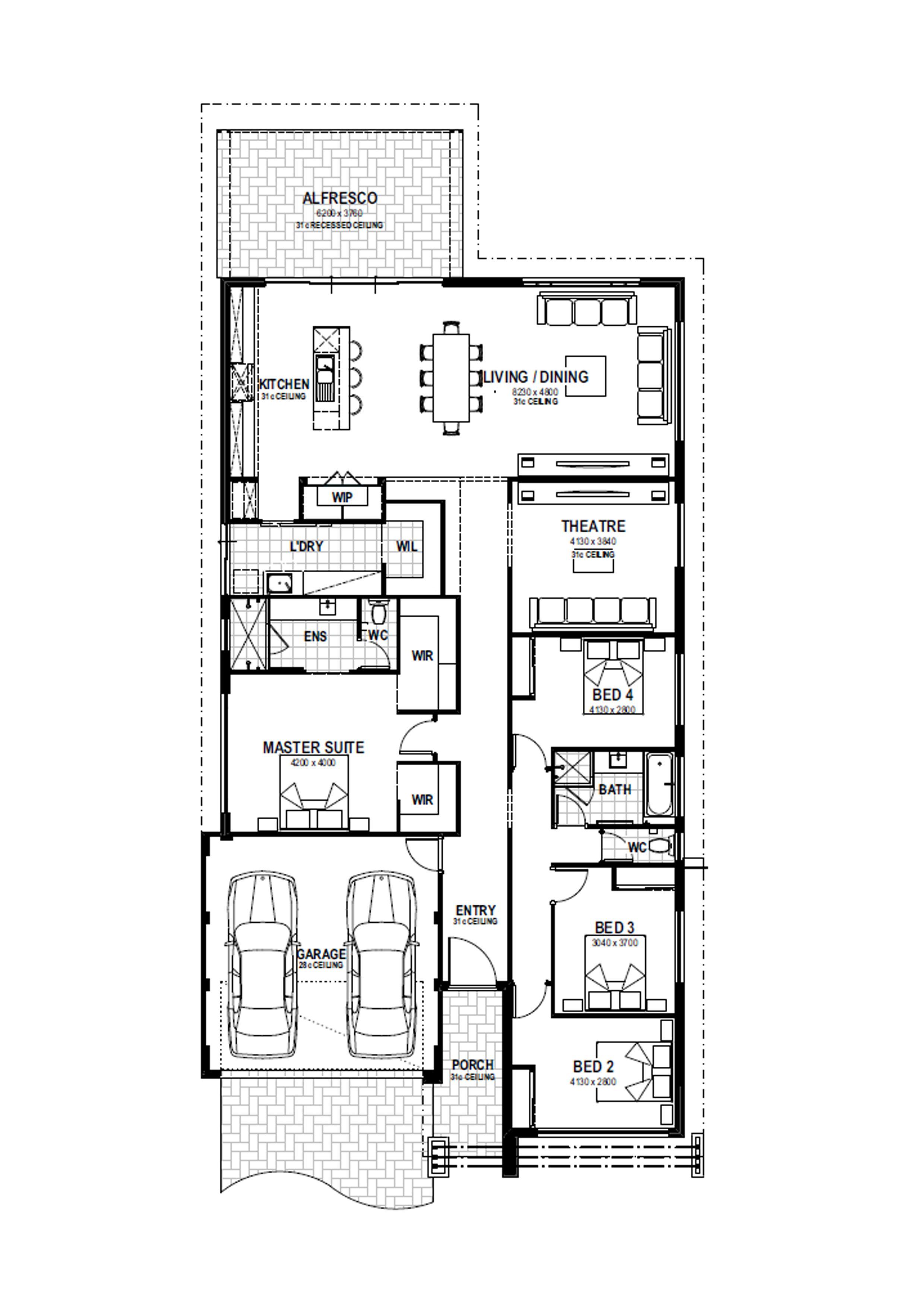 Capri Floorplan  Hauspläne  Pinterest  Bungalow Häuser
