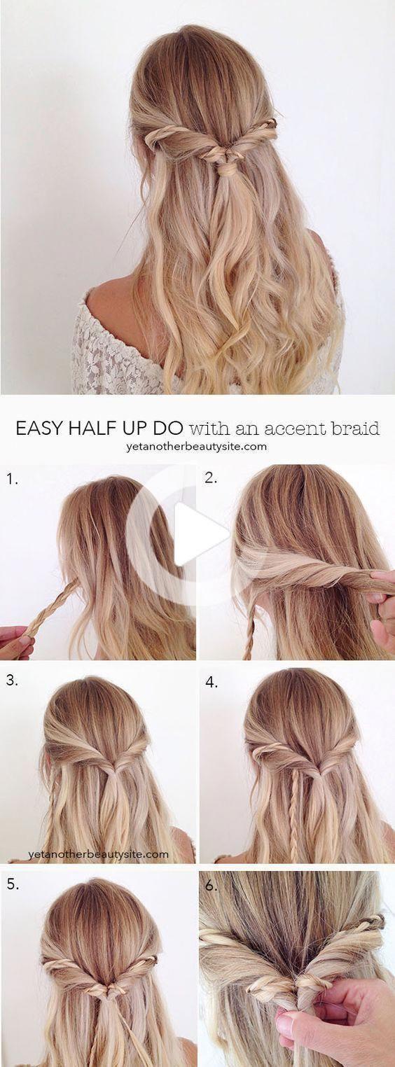 15 Easy Prom Hairstyles For Long Hair You Can Diy At Home In 2020 Simple Prom Hair Medium Hair Styles Medium Length Hair Styles