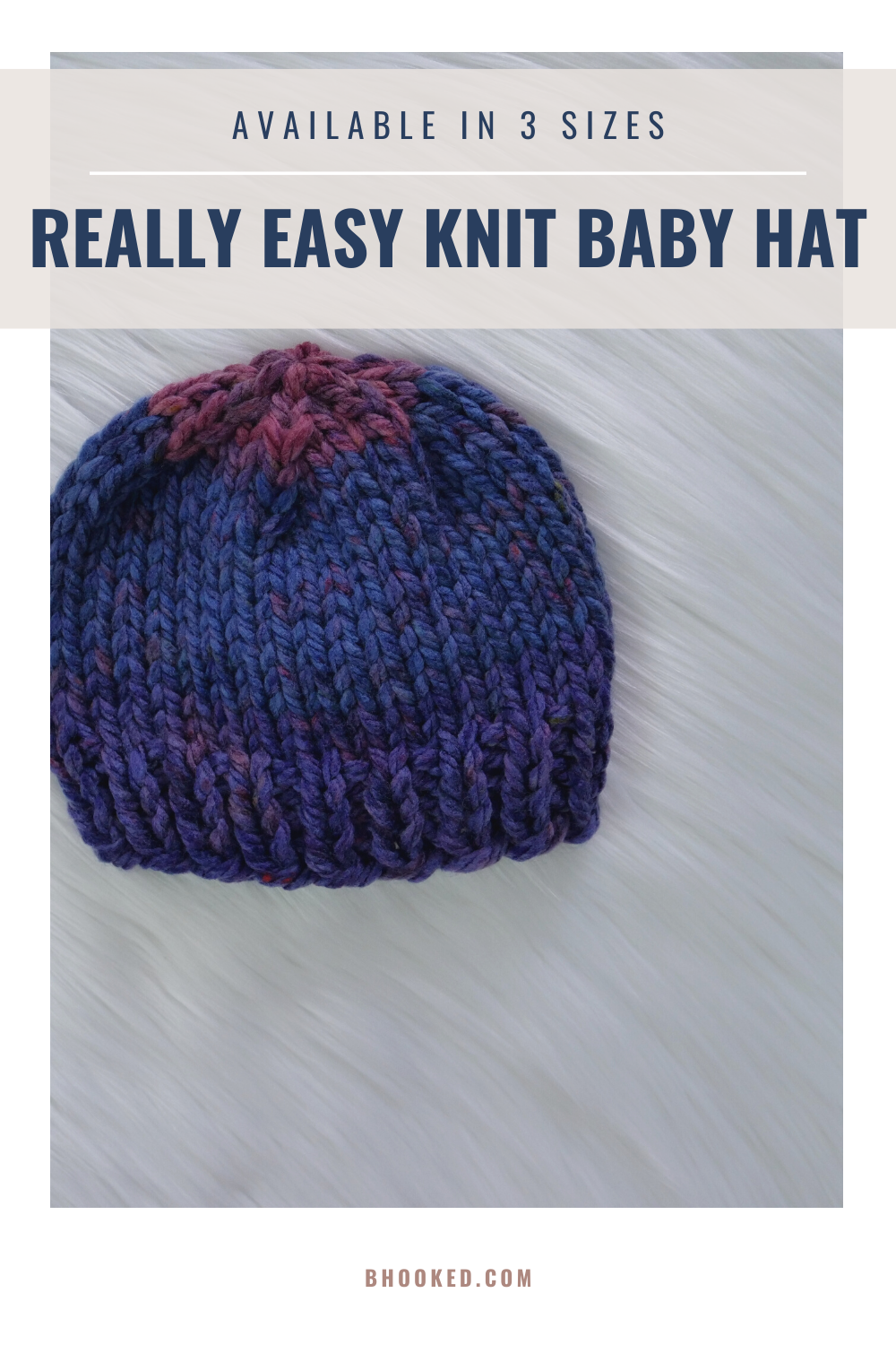 Really Easy Knit Baby Hat Free Pattern & Video Tutorial ...