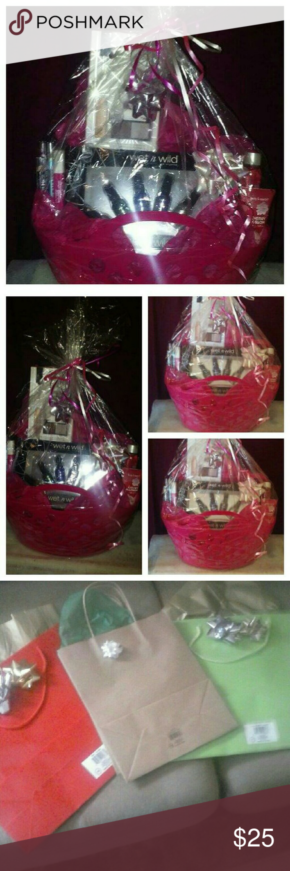 Gift Basket Gift Basket filled with lots of different types of beauty products comes with a gift bag ready to give as a gift. Other