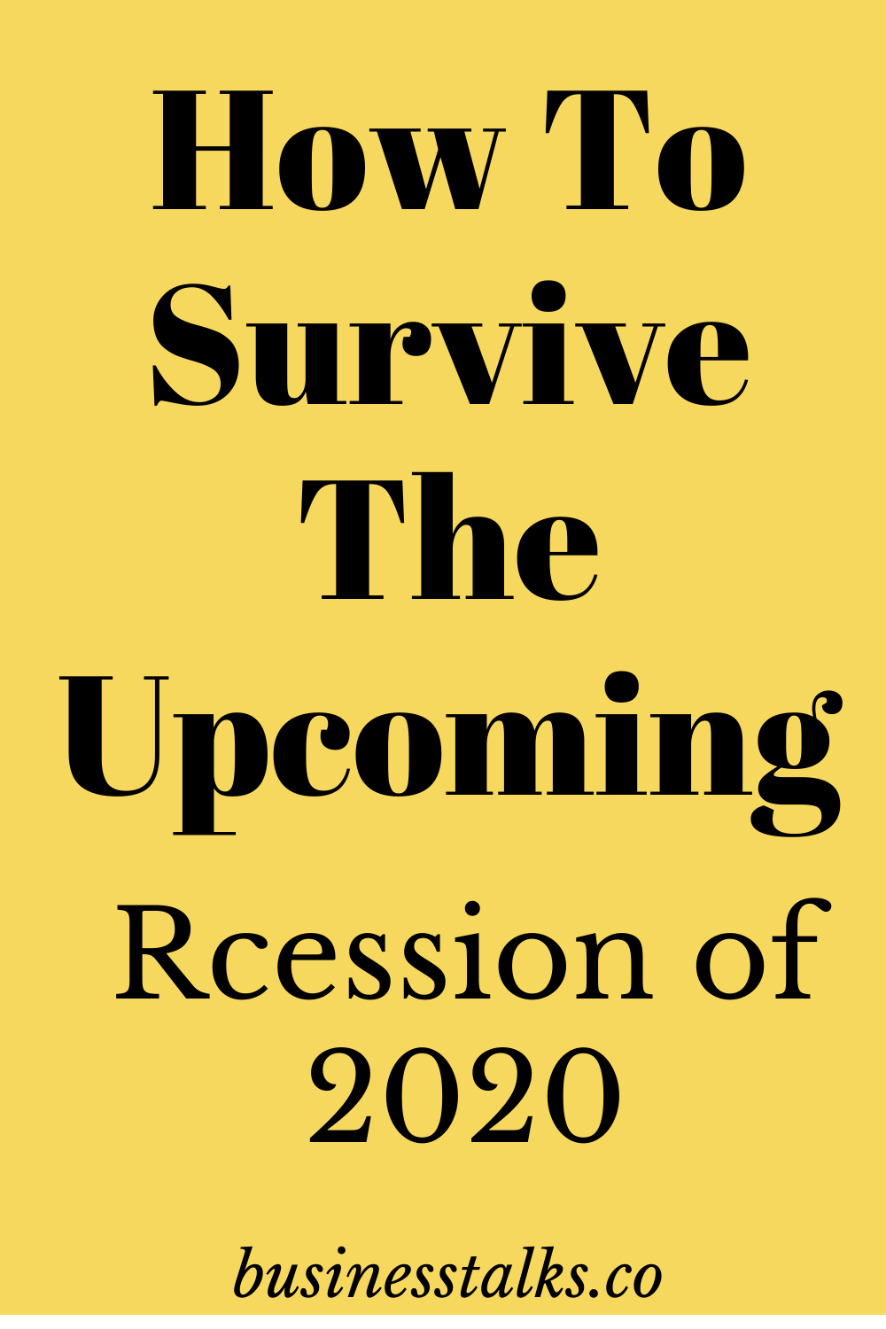 How To Prepare For The Next 2020 Recession In 2020 Personal