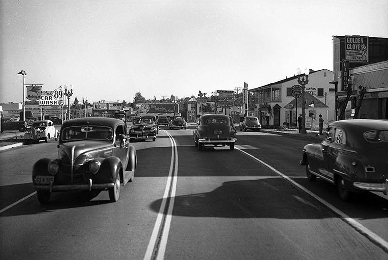 Crenshaw Boulevard South Of Stocker Street Circa 1948