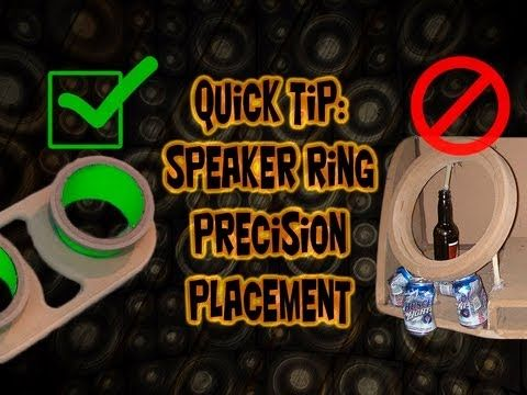 How to locate fiberglass speaker rings perfectly! Car Audio Fabrication ...