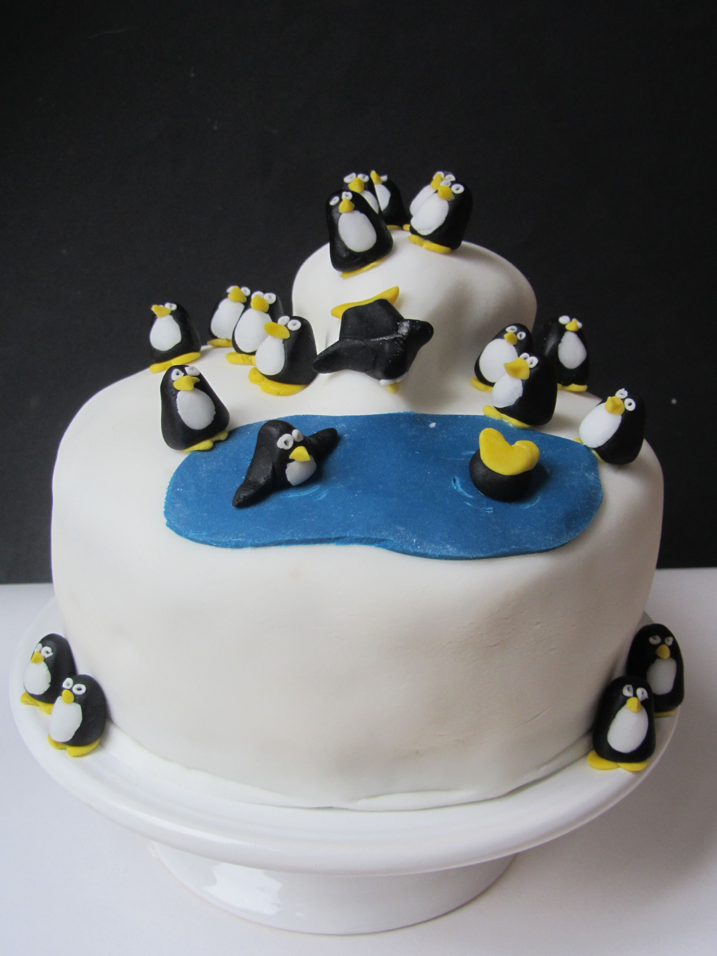 Penguin Themed Birthday Cake Birthday Cakes Cake Images And Cake - Birthday theme cakes