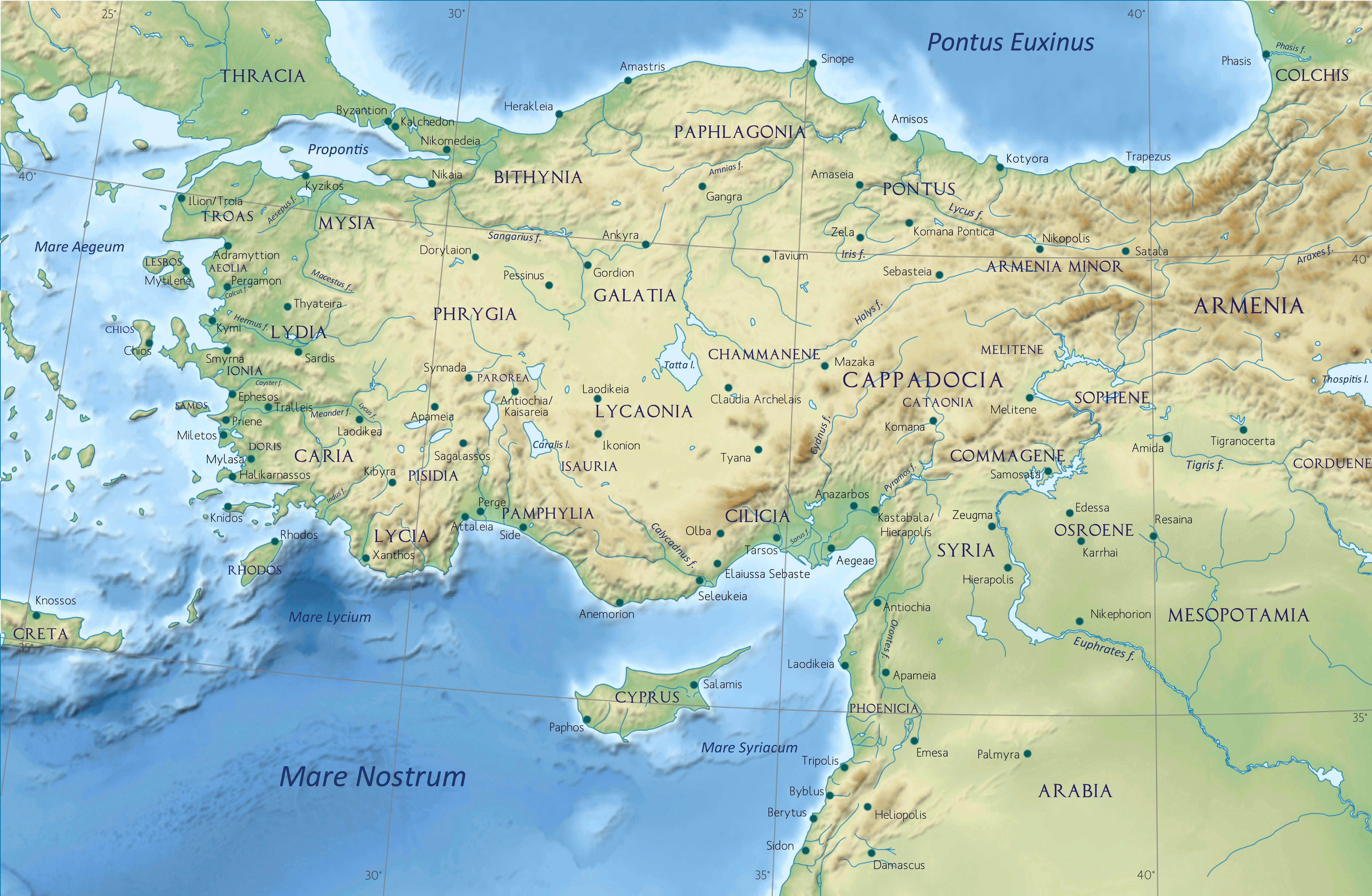 Asia Minor in the Greco Roman period