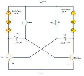 Led Knight Rider Circuit Tutorials Circuit Led Electronics