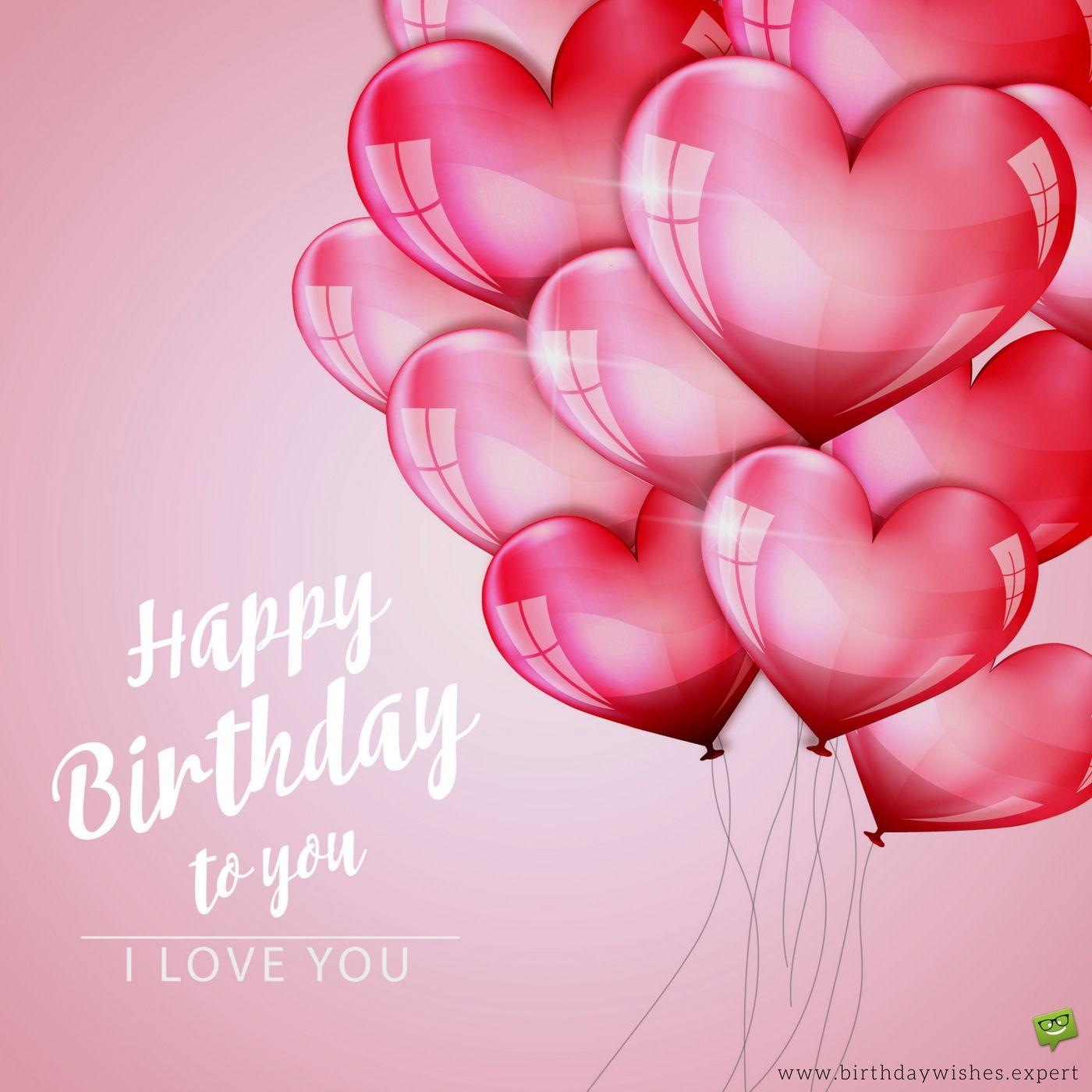 Happy Birthday to you I love you
