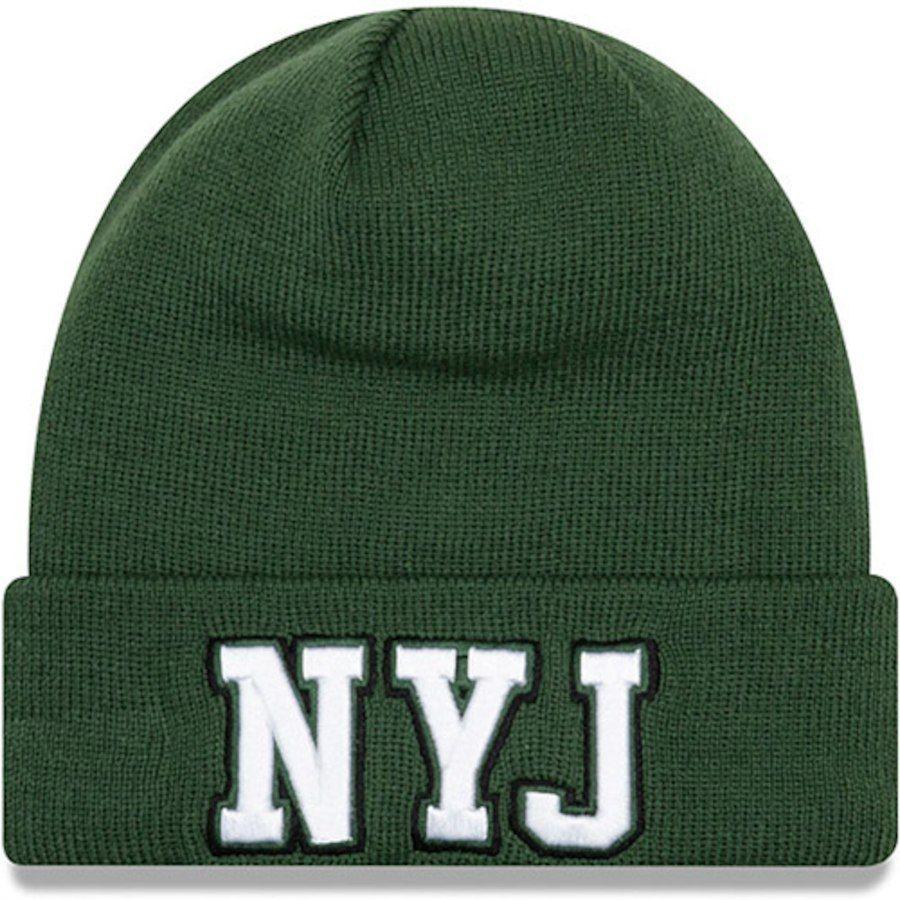 Men s New York Jets New Era Green Barstool Beanie Cuffed Knit Hat ... 806d96165d7