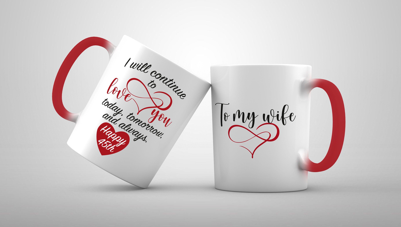 Anniversary gift for her birthday mug for women 1st