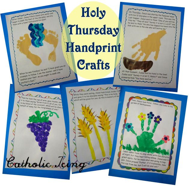 A Craft For Each Day Of Holy Week Easter Books Prayers For Children
