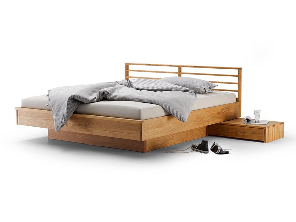 Bett Kumo mit Sprossenbetthaupt Bett, Bett selber bauen