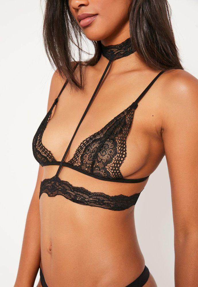 a5c54152eae36 Sexy lace bra set harness choker bralet bralette lingerie nightwear  underwear