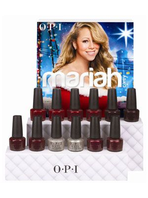 This Holiday Season's Coolest Nail-Polish Collection (It Might Surprise You): Daily Beauty Reporter :  Mariah Carey's Merry Christmas album might be a little cheesy (or more than a little), but I'm the first to admit that I totally get into it. And now I'll say the same thing about her holiday nail-polish collection...