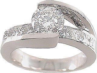 bridge diamond engagement ring Sparkle and Bling Pinterest