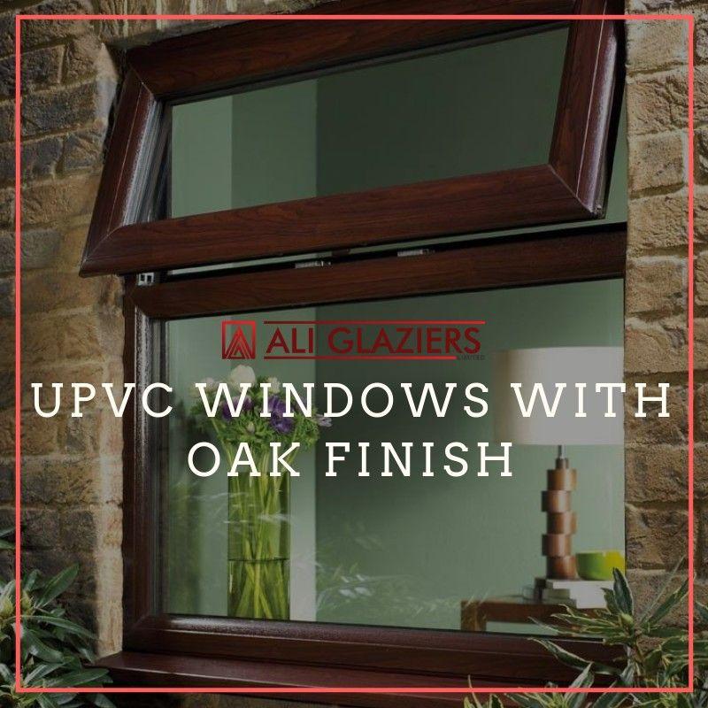 UPVC windows with oak finish Upvc, Upvc windows, Oak finish
