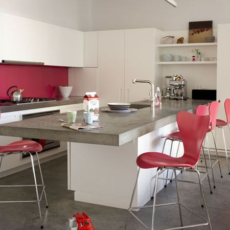 Stylish home: Pink interiors | Pinterest | Gris, Rojo y Fondos
