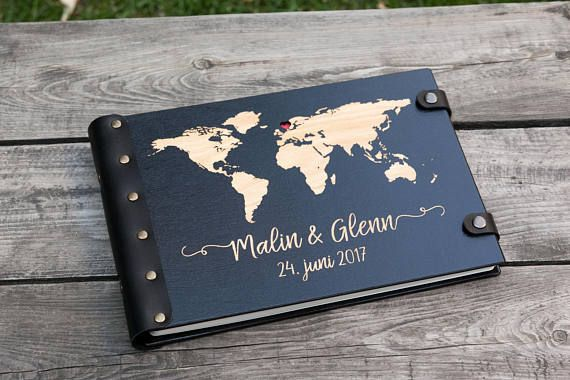 Map guest book world map travel journal wedding guest book guest map guest book world map travel journal wedding guest book wooduniquehandmade gumiabroncs Images