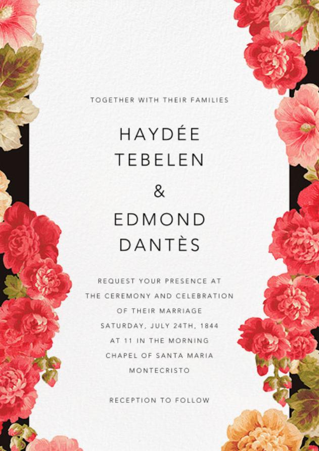 paperless Wedding invitations romantic, Wedding