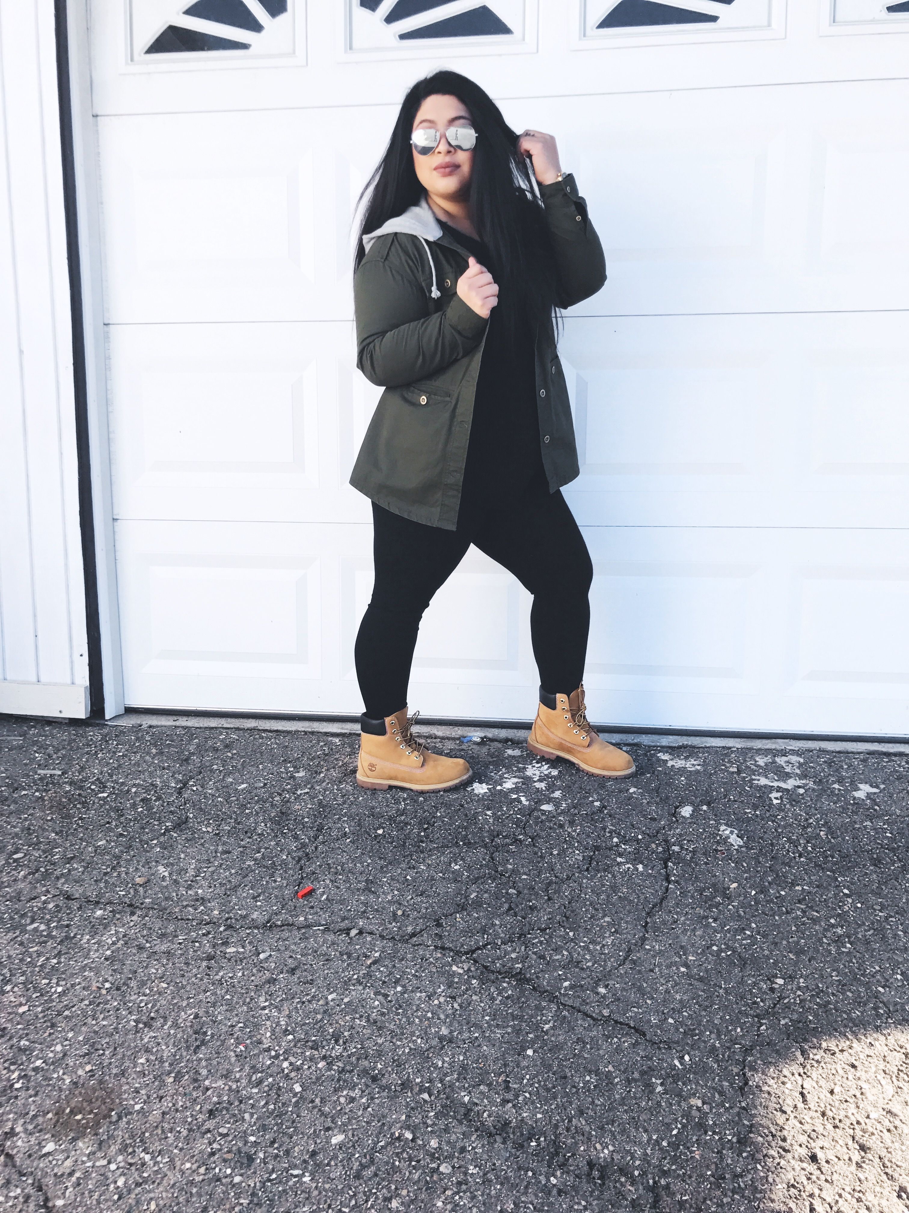 683328ab389 Plus size fall winter fashion with Timberlands