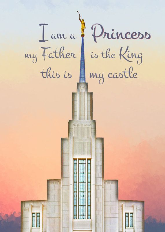 Lds Quotes Temple: LDS Princess Temple 5x7 Quote Printable Typography