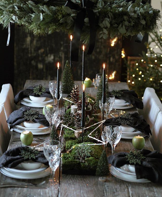 "Nordic House | Homewares on Instagram: ""As thoughts turn to planning a festive table for Christmas or New Year's Eve, how inspirational is this � Beautifully styled from the heart…"""