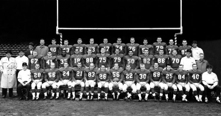 1957 Lions team picture Left to right, front row