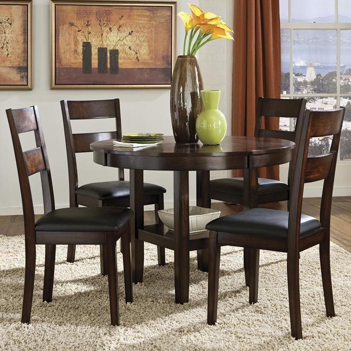 Pendelton 5 Piece Round Top Dining Set