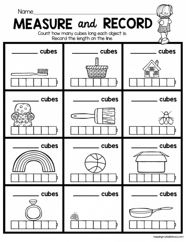 7 Mass Worksheet Kindergarten