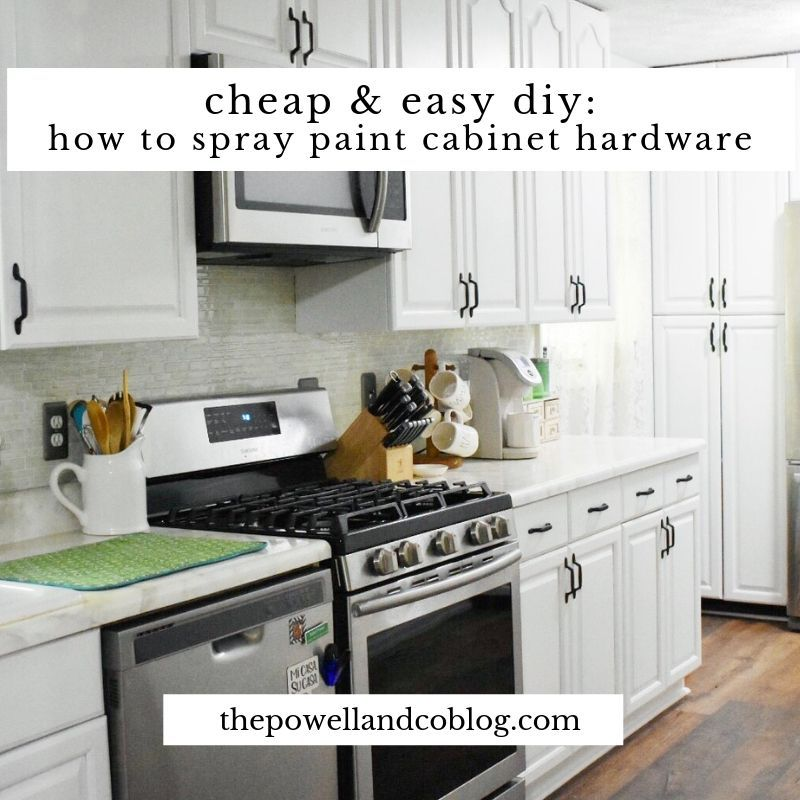 Cheap And Easy Diy How To Spray Paint Cabinet Hardware Spray
