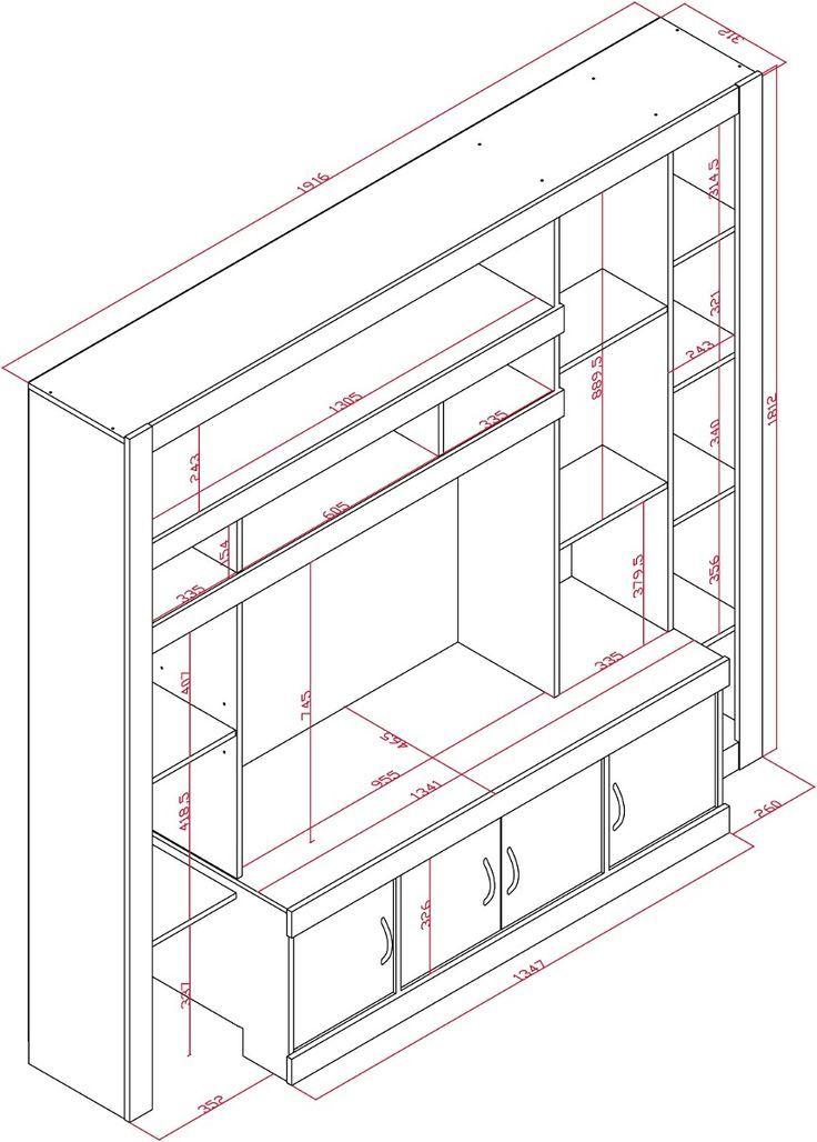 Proyecto Mueble Funcional Diseño De Mobiliario A Medida: Resultado De Imagen Para Muebles Para Tv Mdf PLANOS