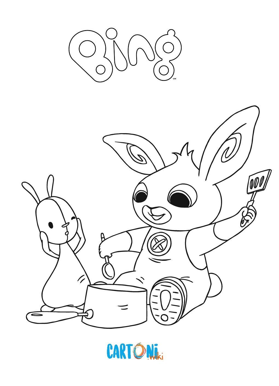 Cartoni Animati Stampa E Colora I Disegni Del Coniglietto Bing