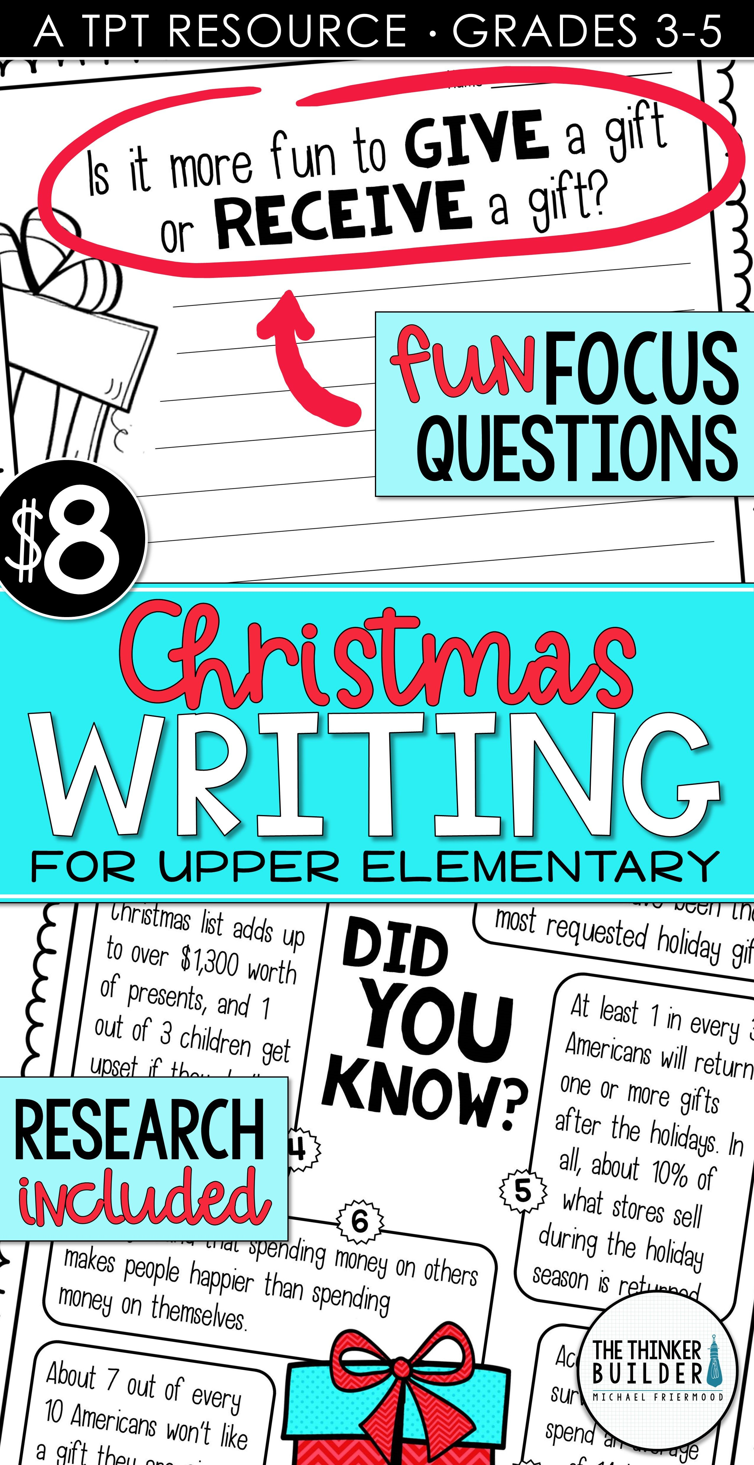 Christmas Writing Opinion Writing Lessons Amp Activities Question 1 2 3 Amp 4