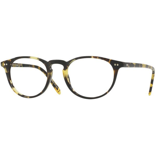 Oliver Peoples Riley Round Optical Frames ($320) ❤ liked on ...