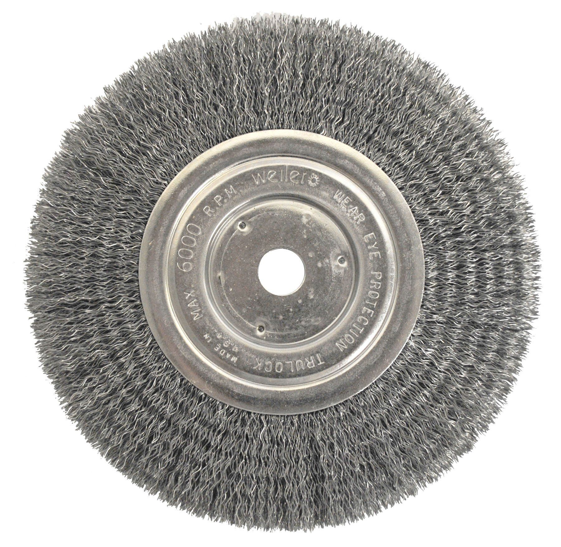 Fine Crimped with 1//2-Inch and 5//8-Inch... Forney 72747 Wire Bench Wheel Brush