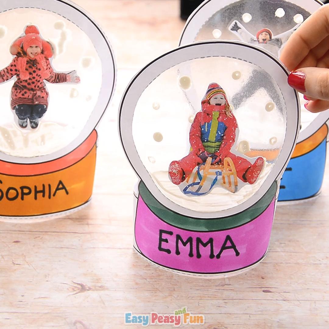 Photo Snowglobe Craft for Kids – Christmas Keepsake or Ornament