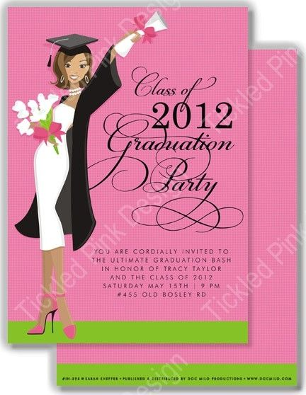 Glamour Girl African American Grad Invitation #glamourgirl ...