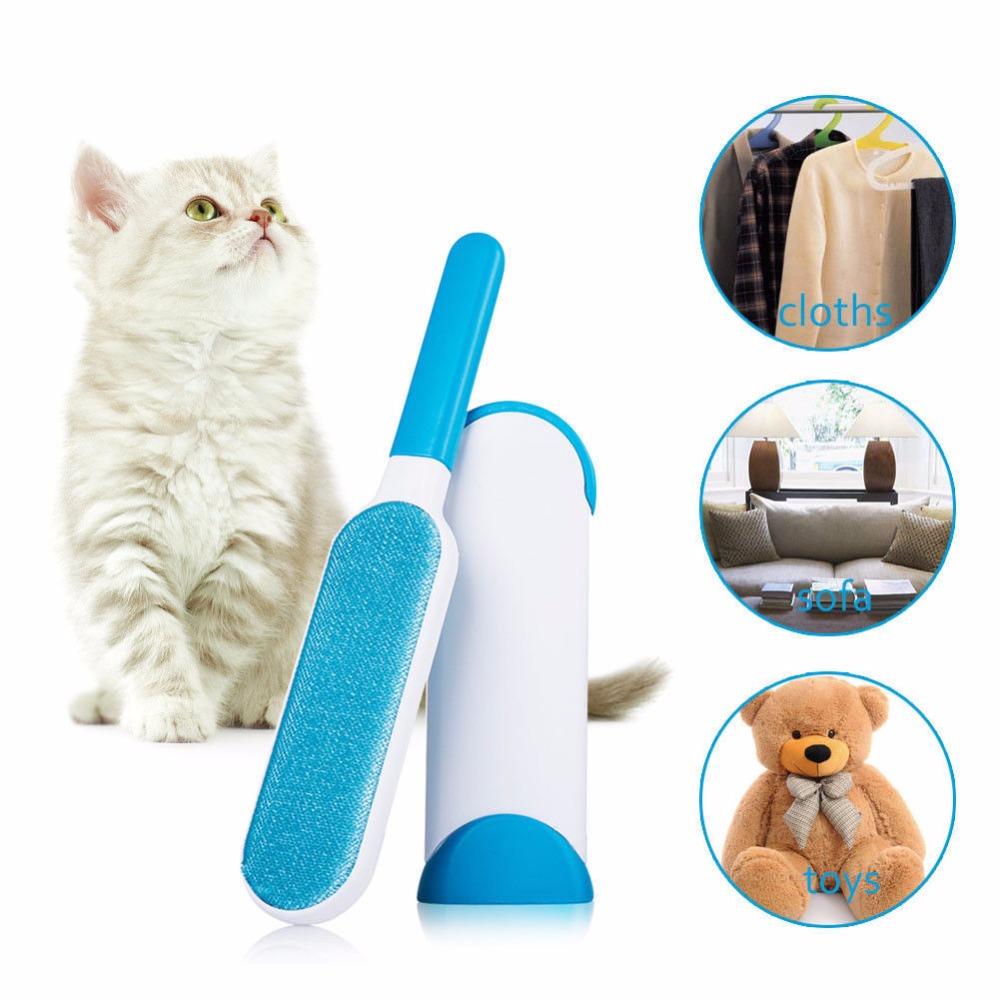 Pet Hair Lint Fur Remover Cleaner Magic Cloth Sofa Fabric Brush Reusable US