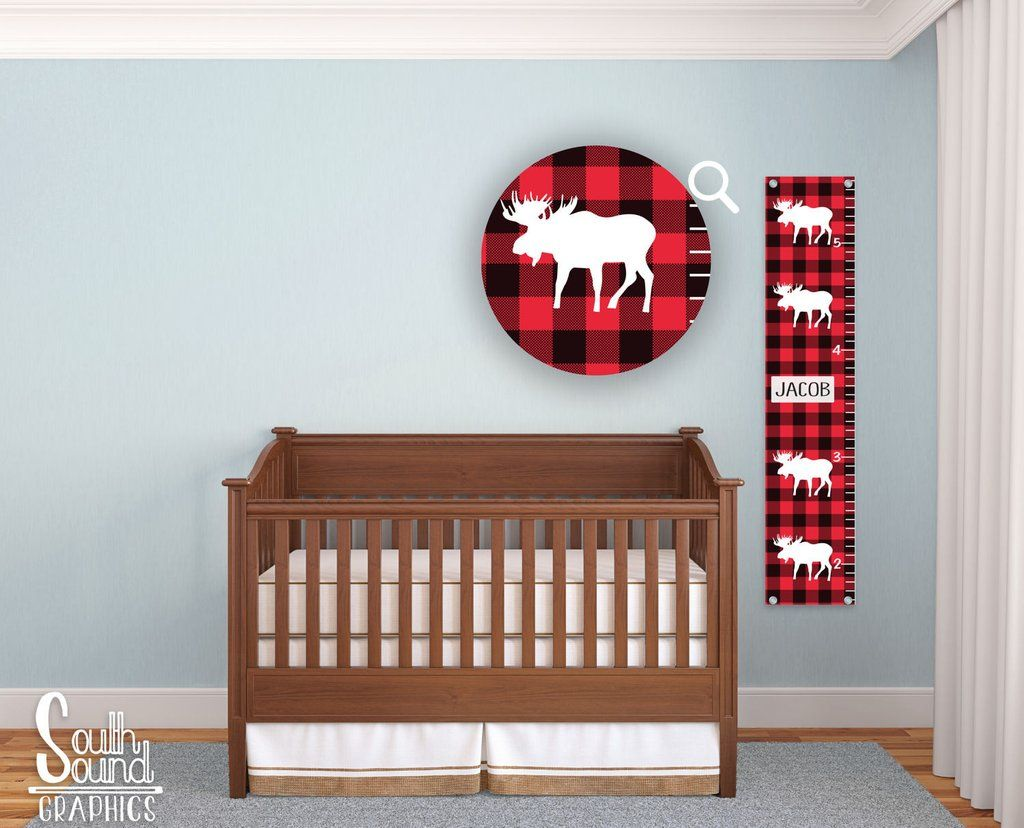 Growth chart for boys buffalo plaid elk room wall decor wall growth chart for girls kids room wall decor bee custom wall hanging childrens personalized growth chart bumble bee bedroom decor nvjuhfo Images