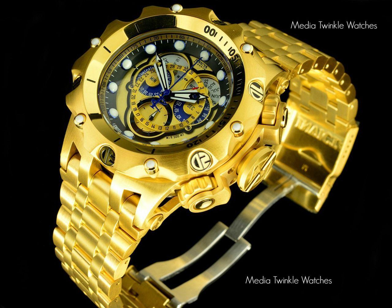 60cf74dff18 Invicta 16804 Reserve VENOM Hybrid Gold 5040F Swiss Quartz ...