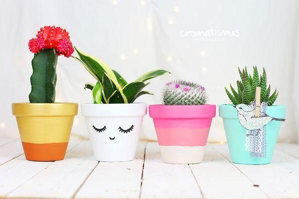 macetas decoradas: ideas para un jardín lleno de encanto | macetas